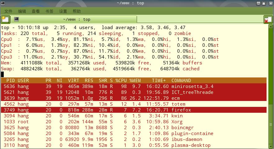 Linux top 命令详解